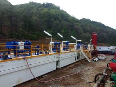 KOSUN ZJ50 solids control system at a shale gas exploration site in Han